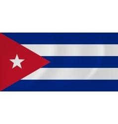 Cuba waving flag vector