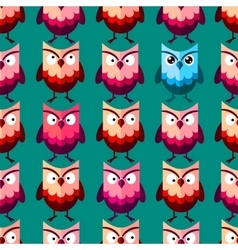 Cute owl pattern vector image