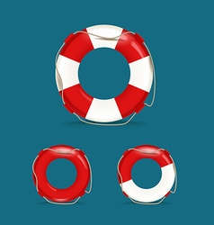 Defferent safety buoy collection vector