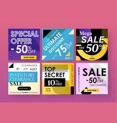 Design social media banners advertising vector