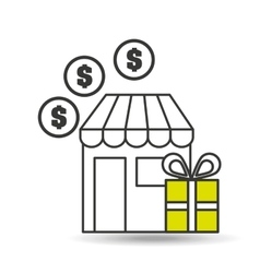 E-commerce store gift money icon vector