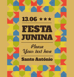 festa junina traditional brazil june vector image