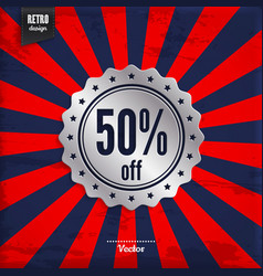 Fifty percent offer product promotion vector