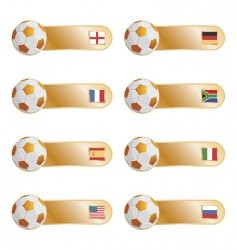 football flag tabs vector image
