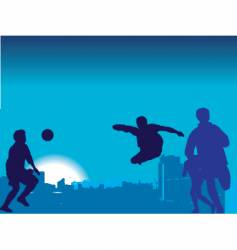 football game nighttime vector image