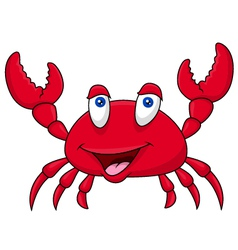 Funny crab cartoon vector image