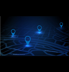 Gps tracking map vector