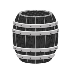 grayscale wooden barrel icon image design vector image