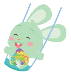 happy easter bunny design art vector image