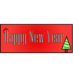 happy new year background on vector image
