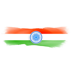 Indian flag made with watercolor vector