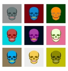 Internal human organs icons set in flat style vector image