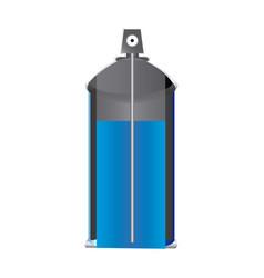 internal view aerosol spray bottle can vector image