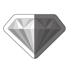 Isolated diamond design vector