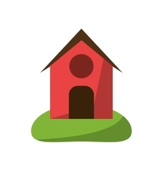Isolated farm building design vector