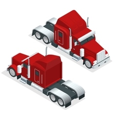 Isometric American Show truck tractor vector