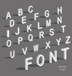 isometric letters with falling shadow vector image