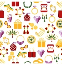 Jewelry seamless pattern background vector