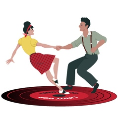 Lindy Hop record vector image