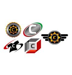 Logotype v modern template set vector