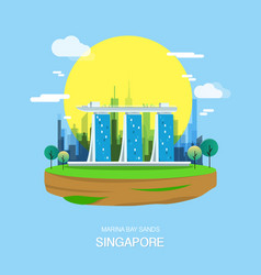 Maina bay sands landmark and attractive city in vector