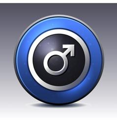 Male gender symbol vector image