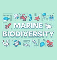marine biodiversity word concepts banner ocean vector image