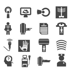 Medical diagnostic and test icons set vector