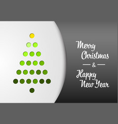 minimalistic christmas tree made from holes vector image