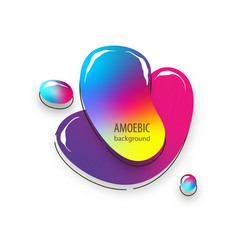 motion amoeba fluid abstract background paper cut vector image