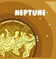 Neptune milkyway planet vector
