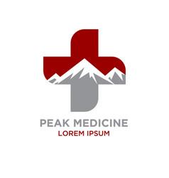 Peak medicine logo designs vector