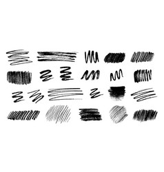 pencil and ink hatching grunge elements vector image