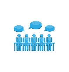 People in meeting communication symbol vector