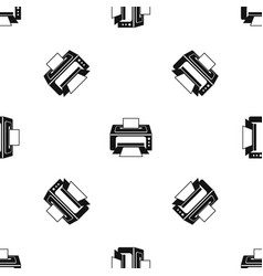 printer pattern seamless black vector image