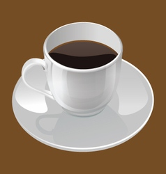 Realistic of a coffee cup vector