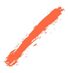 red paint brush stroke vector image