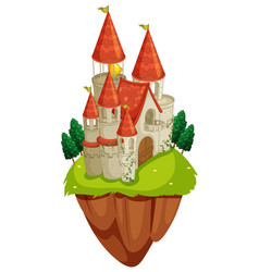 Scene with castle towers vector
