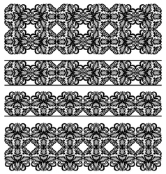 Set lace borders vector image