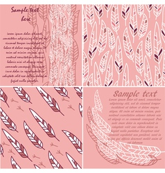 set of cute cards and patterns vector image