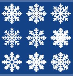 set white winter snowflak vector image