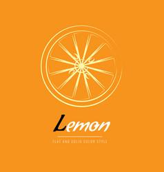 sliced lemon icon line art or outline style vector image
