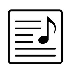 Song lyrics or music sheet line art icon vector