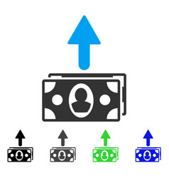 Spend banknotes flat icon vector