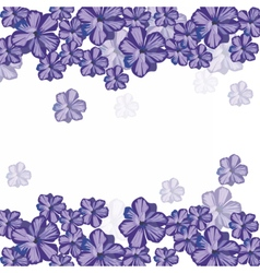 Spring summer floral greeting card vector