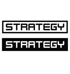 Strategy label on white vector