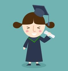 Student graduation vector