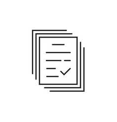 Thin line notary paperwork badge vector