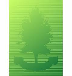 tree and ribbon cutout vector image