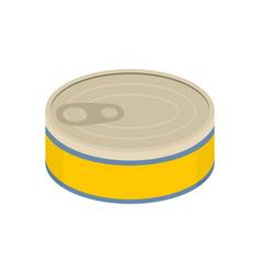 Tuna can icon flat style vector